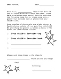 All About Me - Note Sent Home