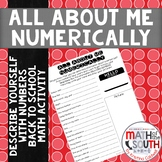 All About Me Numerically - Back to School Math Activity