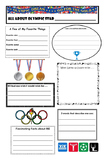 All About Me Olympic Theme Profile Poster