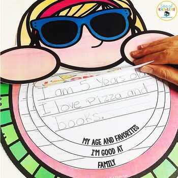 All About Me One in a Melon Flipbook! A Back to School Craftivity