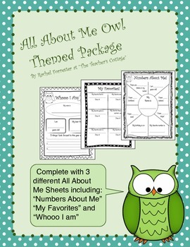 All About Me Owl Themed Package