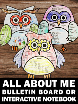All About Me Activities, All About Me Bulletin Board Back to School Craftivity