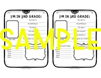 All About Me:  PK - 6th Grade