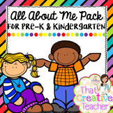 All About Me Pack for Pre-K & Kindergarten