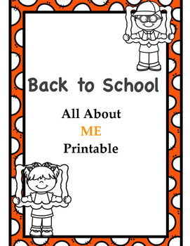 All About Me Pack with lesson plan and display ideas!
