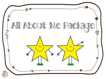 All About Me Activities - Back To School Bundle