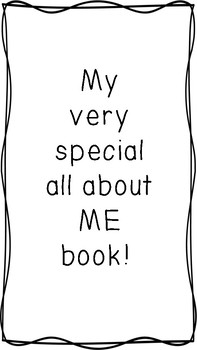 All About Me Packet - 16 Page Activity for Back to School Primary Students