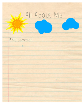 This Summer I... Worksheet
