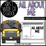 All About Me- First Day of School