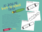 All About Me Packet for Elementary Students