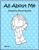 All About Me Packet for Primary Grades