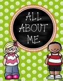 All About Me Pages