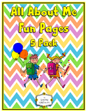 All About Me Pages, Posters, Pennants; Great First Day of