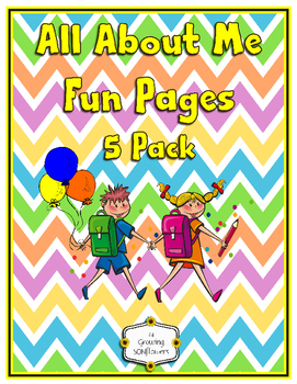 All About Me Pages Posters Pennants