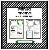 All About Me Panda Theme