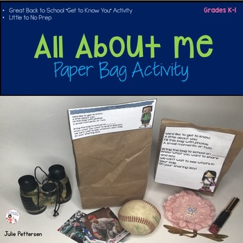 All About Me Paper Bag Activity