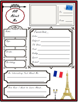 All About Me Paris Theme