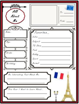 All About Me Paris Theme