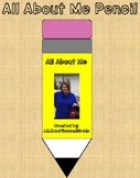 All About Me Pencil