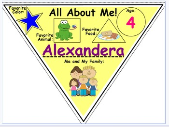 All About Me Pendant: Back to School, Preschool, Banner