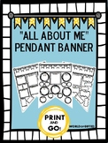 All About Me Pendant Banner {Back to School, Get to Know Y
