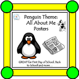 Back to School Activities: All About Me Posters {Penguin Theme}