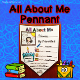 Back to School Activities : All About Me Pennant - Writing