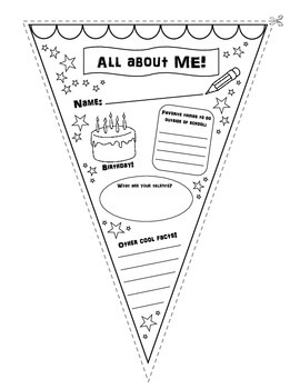 All About Me Pennant