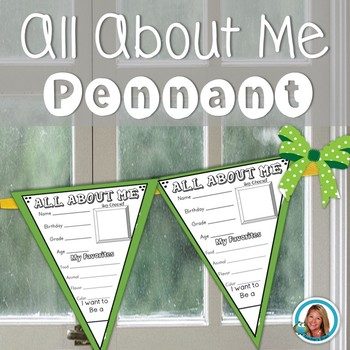All About Me Pennant - By Teacher's Brain