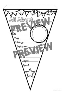 All About Me Pennant 5 Pack