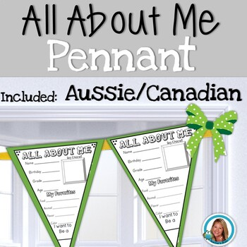 All About Me Pennant - Aussie/Canadian Version by Teacher's Brain