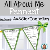 All About Me Pennant Banner - Aussie/Canadian Version Included