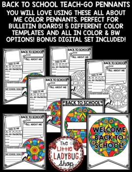 All About Me Pennant - Back to School Activity [Color Pattern Theme]