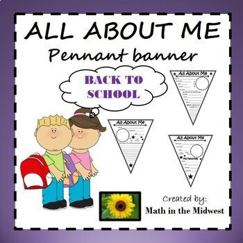 All About Me Pennant {Back to School}