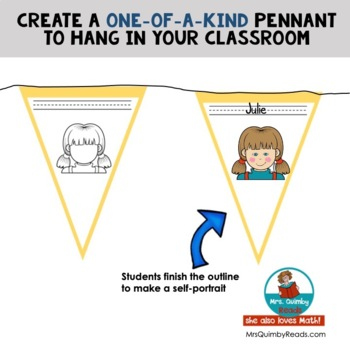 All About Me Pennant   Back to School   Getting to Know You Banner
