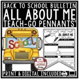 Back to School Bulletin Board: Digital All About Me Google Beginning of the Year