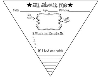 All About Me - Pennant Banner