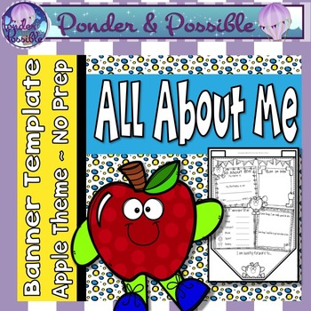 All About Me Bunting ~ Apple Theme ~ Great Back to School Activity