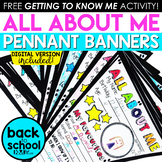 All About Me Pennant Banner (Back to School Activity)