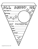 All About Me Pennant Banner (Back to School)