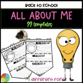 All About Me Pennant / Banner (Back to School Activity)