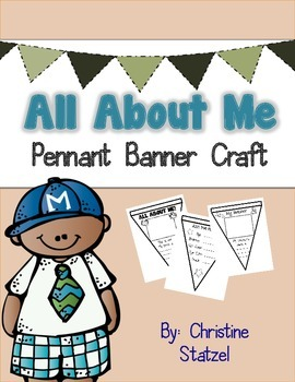 All About Me Pennant Banner Craft