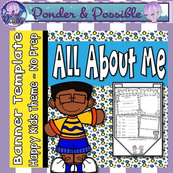 All About Me Bunting ~ Happy Kids Theme ~ Great Back to Sc