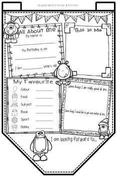 All About Me Bunting ~ Monster Theme ~ Great Back to School Activity