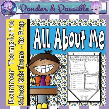 All About Me Bunting ~ School Kids Theme ~ Great Back to S