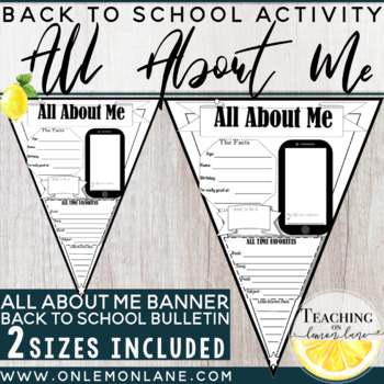 All About Me Banner First Day of School {Get to know you}