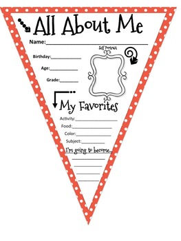 All About Me Pennant Banners