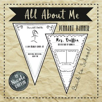 All About Me  - Pennant Banners