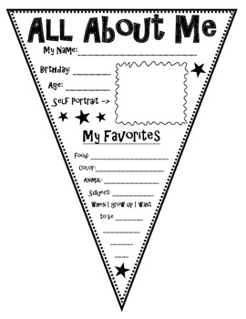 All About Me Pennant Bundle