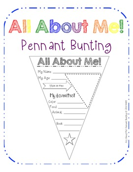 All About Me! Pennant Bunting